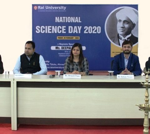 National science day celebration at Rai University on 28th February 2020