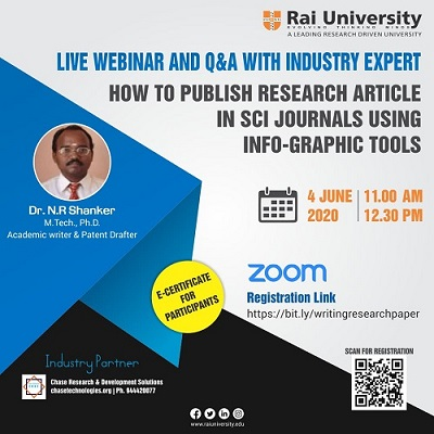 Live Webinar on How to Publish Research Article on 4 June 2020