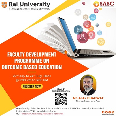 """Faculty Development Programme (FDP) on """"Outcome Based Education"""" on 22-July-2020 to 24-July-2020"""