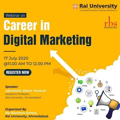 Webinar on Career in Digital Marketing on July 17, 2020