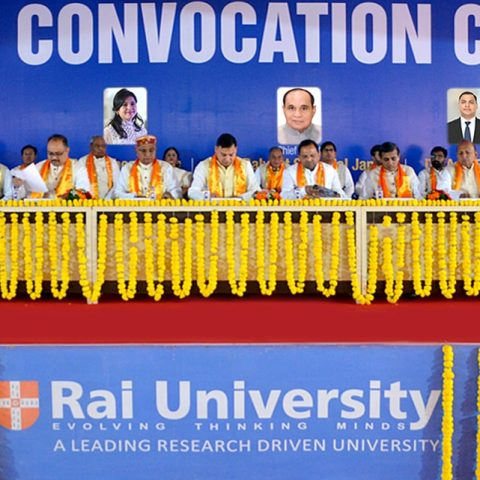 6th Convocation held at Rai University on 12th February 2020.