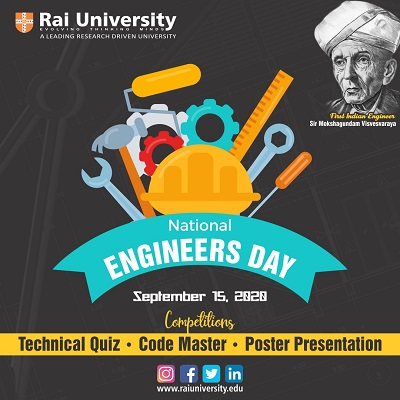 National Engineers Day on 15th September,2020