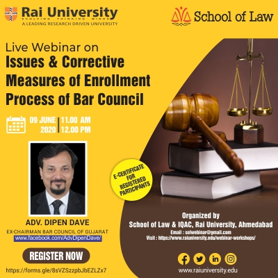 Live Webinar on Issues & Corrective Measures of Enrollment Process of Bar council  on 9 June 2020