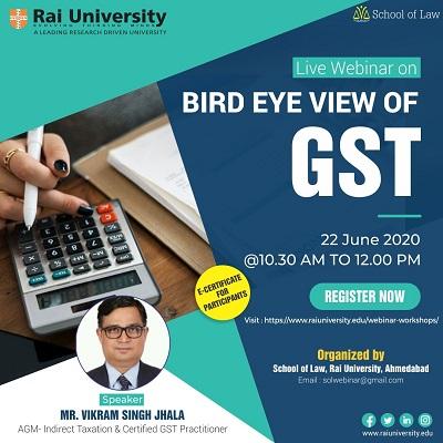Webinar on Bird Eye View of GST on 22 June 2020