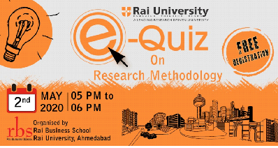 e-Quiz@Research Methodology organized by RBS on 2nd May