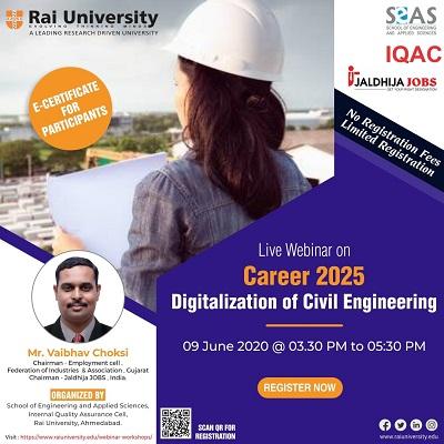 Webinar on Career 2025 – Digitalization of Civil Engineering on 9 June 2020