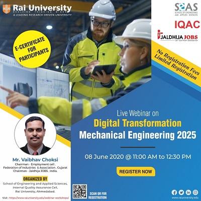 Webinar on Digital Transformation – Mechanical Engineering 2025 on 8 June 2020