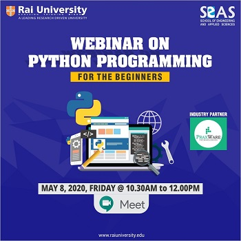 Webinar on Python on 8th May