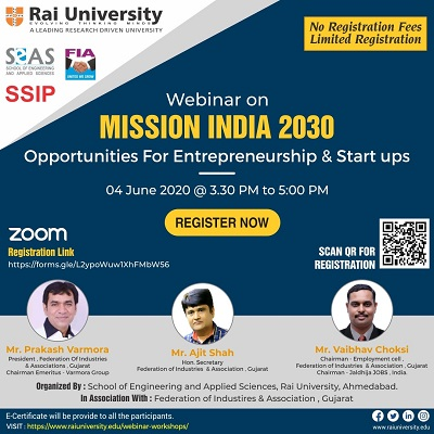 Webinar on Mission India 2030 on 4 June 2020